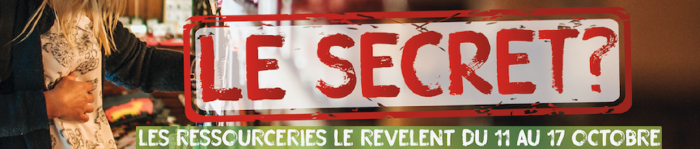 Semaine Nationale des Ressourceries Lien vers: https://ressourceries.info/?SN